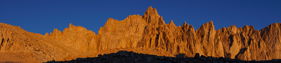 Mt. Whitney & disciples, dawn