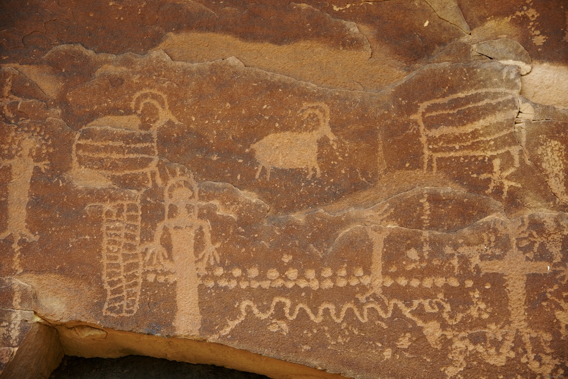 Petroglyphs, Gray Canyon, Green River, Utah